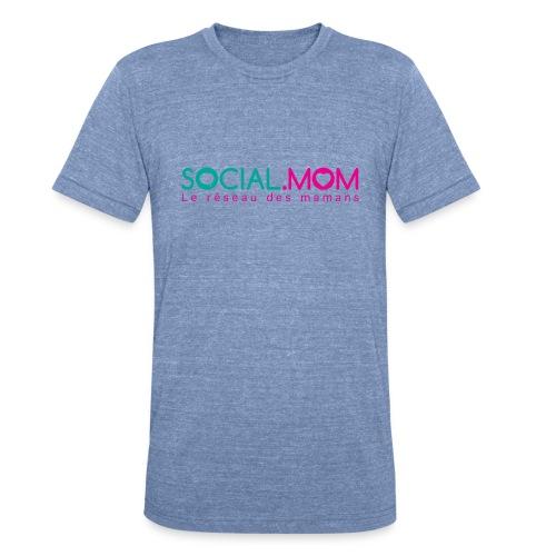 Social.mom logo français - Unisex Tri-Blend T-Shirt