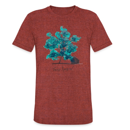 Teal Tree PNG - Unisex Tri-Blend T-Shirt