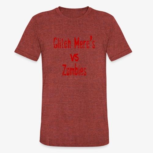 glitch zombie red - Unisex Tri-Blend T-Shirt