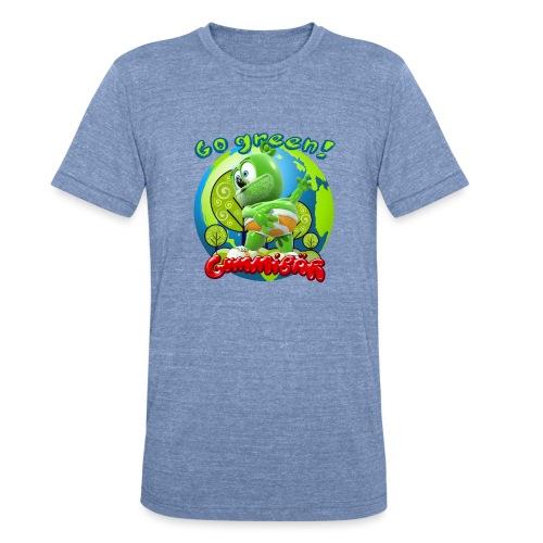 Gummibär Go Green Earth Day Earth - Unisex Tri-Blend T-Shirt