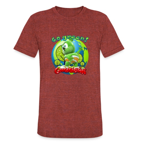 Gummibär Go Green Earth Day Earth - Unisex Tri-Blend T-Shirt