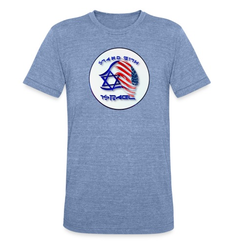 Stand With Israel - lettered Circle - Unisex Tri-Blend T-Shirt