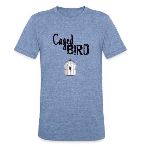 Caged Bird Abstract Design - Unisex Tri-Blend T-Shirt
