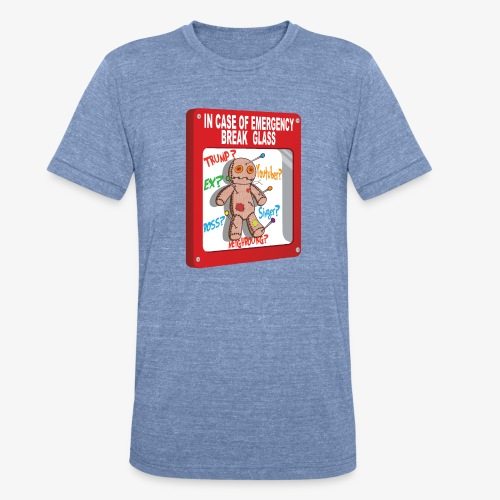 In case of emergency Voodoo Puppet - Unisex Tri-Blend T-Shirt