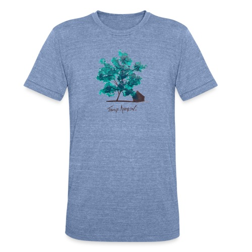 Teal Tree PNG - Unisex Tri-Blend T-Shirt