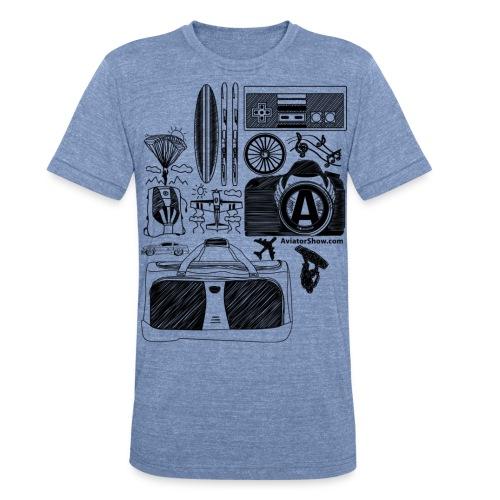 Aviator s World black - Unisex Tri-Blend T-Shirt
