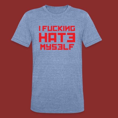 Hate Myself - Midnight N - Unisex Tri-Blend T-Shirt