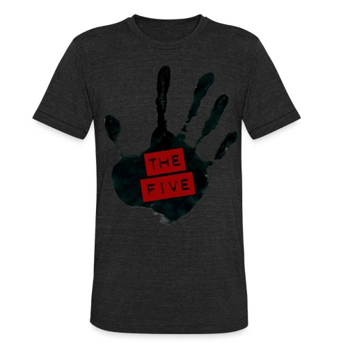 the five logo black on transparent - Unisex Tri-Blend T-Shirt