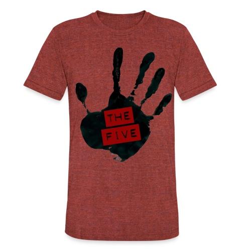 the five logo black on transparent - Unisex Tri-Blend T-Shirt