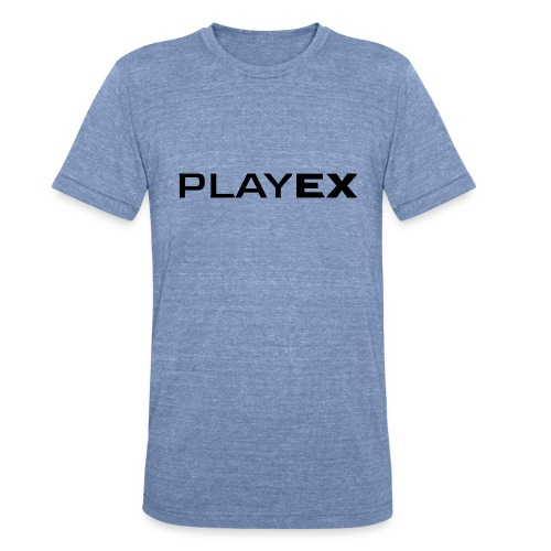 PlayEX Logo Black - Unisex Tri-Blend T-Shirt