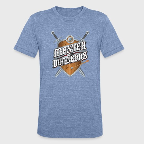 master of dungeons shield and swords fantasy gift - Unisex Tri-Blend T-Shirt