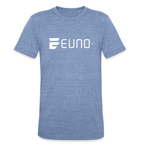 EUNO LOGO LANDSCAPE WHITE - Unisex Tri-Blend T-Shirt