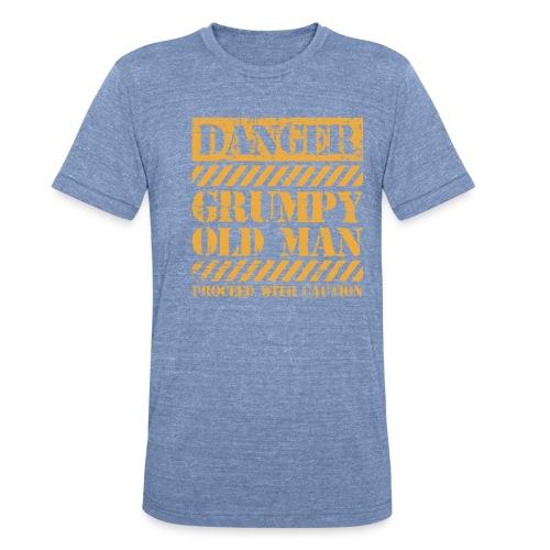 Danger Grumpy Old Man Sarcastic Saying - Unisex Tri-Blend T-Shirt