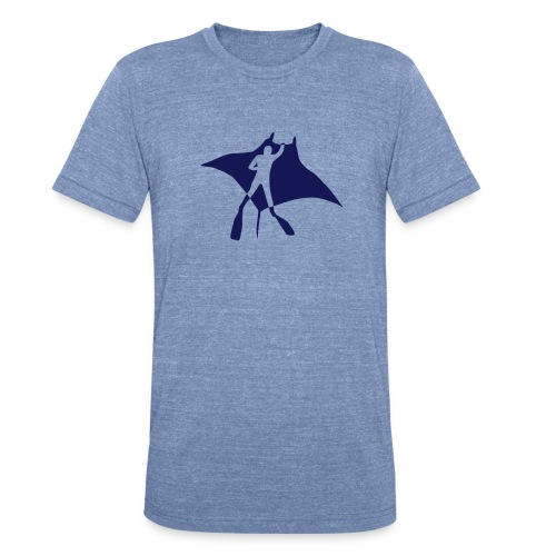manta ray sting scuba diving diver dive fish ocean - Unisex Tri-Blend T-Shirt