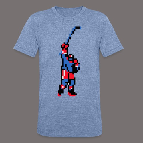 The Goal Scorer Blades of Steel - Unisex Tri-Blend T-Shirt