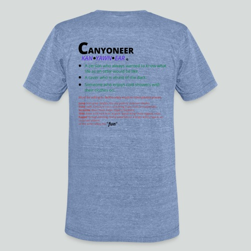 CANYONEER DEF'N-on light back-2 sided - Unisex Tri-Blend T-Shirt