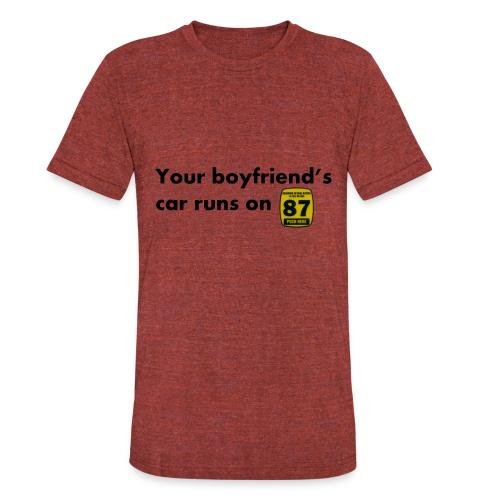 Boyfriend Gas Preference - Unisex Tri-Blend T-Shirt