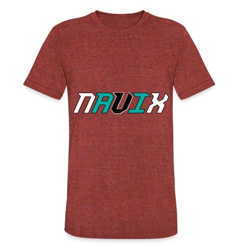 Blue and White - Unisex Tri-Blend T-Shirt
