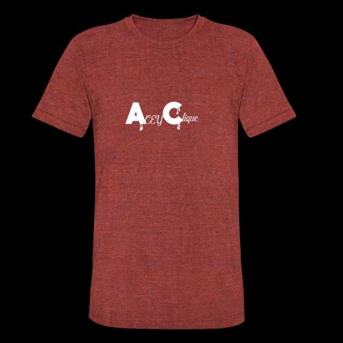 AceyClique White Logo - Unisex Tri-Blend T-Shirt