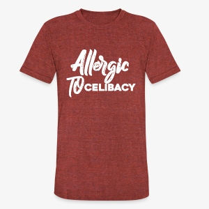 Allergic To Celibacy - Unisex Tri-Blend T-Shirt
