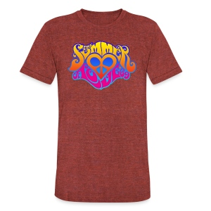 The Summer Of Love 3 - Unisex Tri-Blend T-Shirt by American Apparel