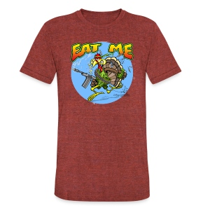 Eat Me Turkey - Unisex Tri-Blend T-Shirt by American Apparel