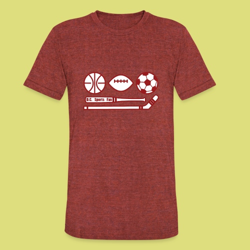 DC Sports fan - Unisex Tri-Blend T-Shirt