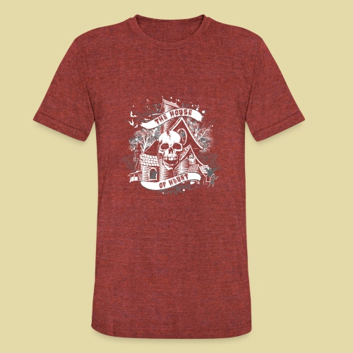 hoh_tshirt_skullhouse - Unisex Tri-Blend T-Shirt