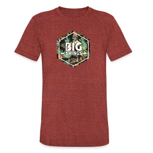 Big Swings Floral Design - Unisex Tri-Blend T-Shirt by American Apparel