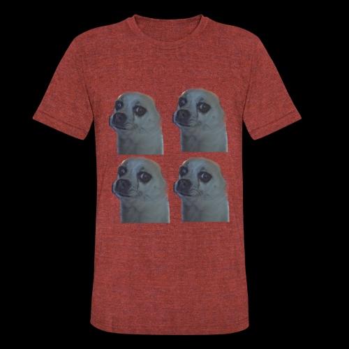 4 Face Cookie - Unisex Tri-Blend T-Shirt