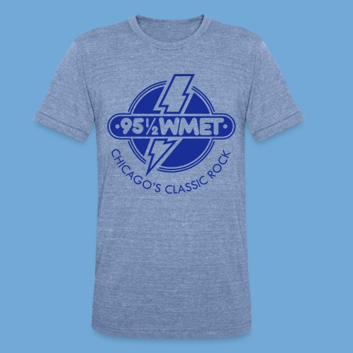WMET logo (variable color) - Unisex Tri-Blend T-Shirt