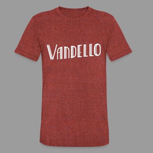 Vandello Logo-White - Unisex Tri-Blend T-Shirt