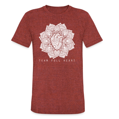 heartzip - Unisex Tri-Blend T-Shirt