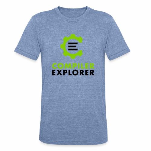 Logo and text - Unisex Tri-Blend T-Shirt