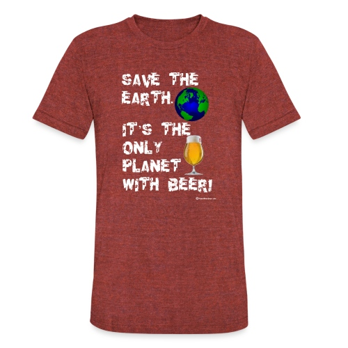 Save The Earth - Unisex Tri-Blend T-Shirt