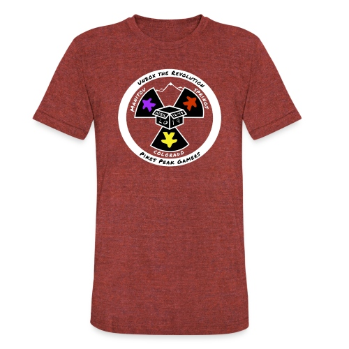 Pikes Peak Gamers Convention 2019 - Clothing - Unisex Tri-Blend T-Shirt