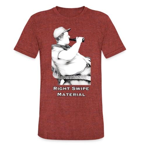 Right Swipe Material - Unisex Tri-Blend T-Shirt