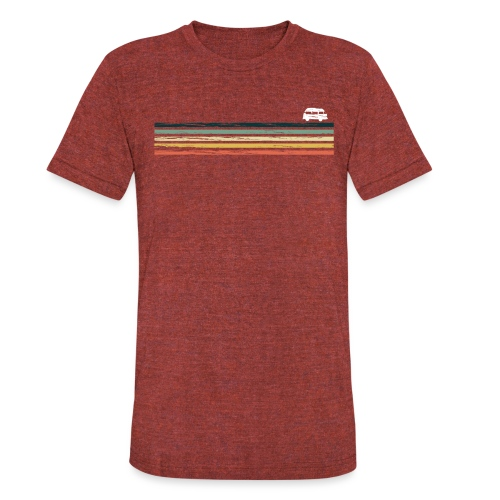 Retro Van Life Bus - Explore The Great Outdoors - Unisex Tri-Blend T-Shirt