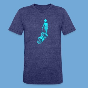 Roto-Hoe Cyan. - Unisex Tri-Blend T-Shirt by American Apparel