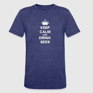 Beer - Keep calm and drink beer - Unisex Tri-Blend T-Shirt by American Apparel