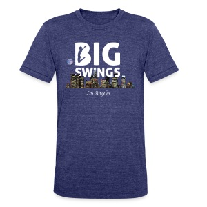Los Angeles Skyline Big Swings Style - Unisex Tri-Blend T-Shirt by American Apparel