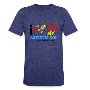 Autism Awareness - Unisex Tri-Blend T-Shirt by American Apparel