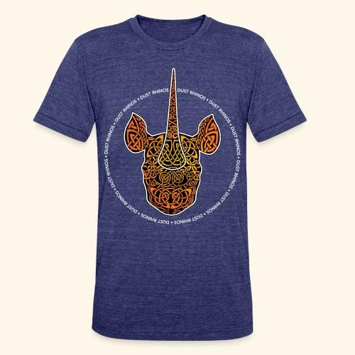 Dust Rhinos Orange Knotwork - Unisex Tri-Blend T-Shirt
