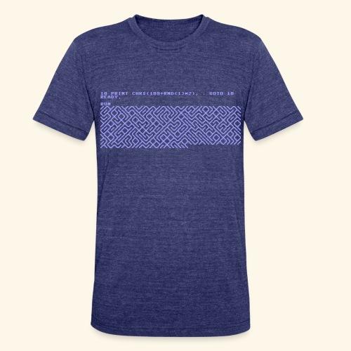 10 PRINT CHR$(205.5 RND(1)); : GOTO 10 - Unisex Tri-Blend T-Shirt