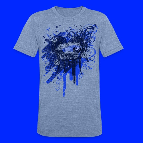Vintage Cannonball Bingo Drip Blue - Unisex Tri-Blend T-Shirt