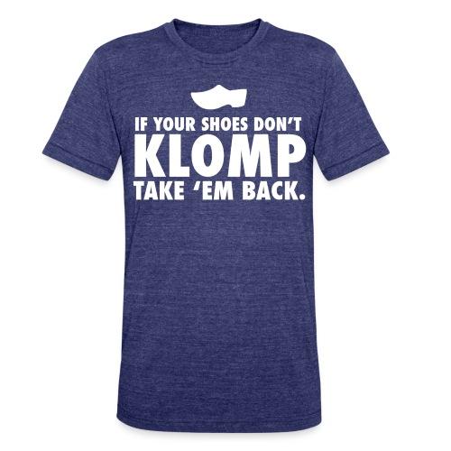 08 Klomp white lettering - Unisex Tri-Blend T-Shirt