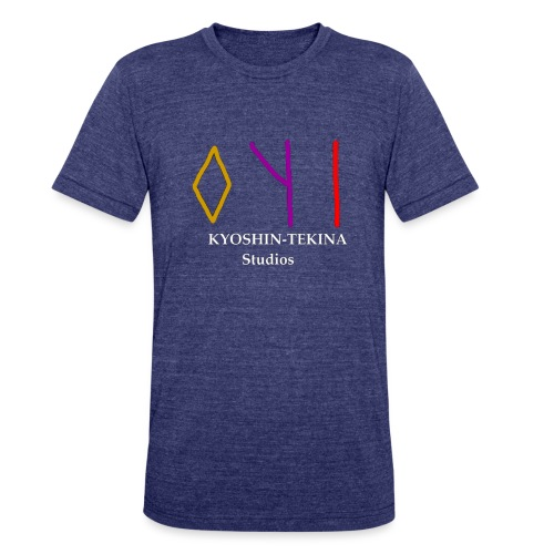 Kyoshin-Tekina Studios logo (white text) - Unisex Tri-Blend T-Shirt