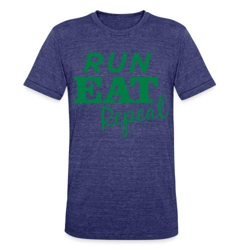 Run Eat Repeat buttons medium - Unisex Tri-Blend T-Shirt