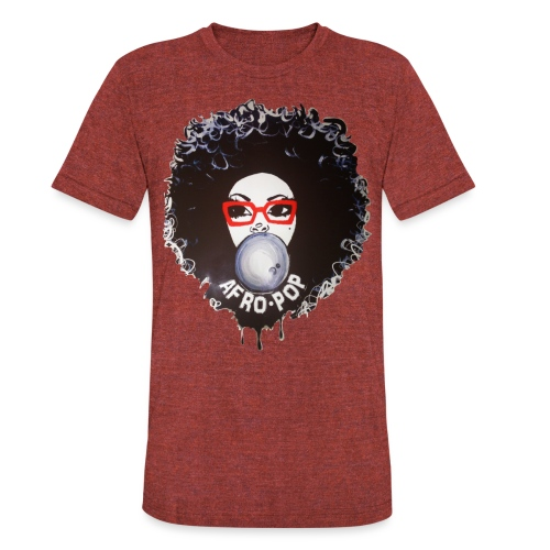 Afro pop_ - Unisex Tri-Blend T-Shirt