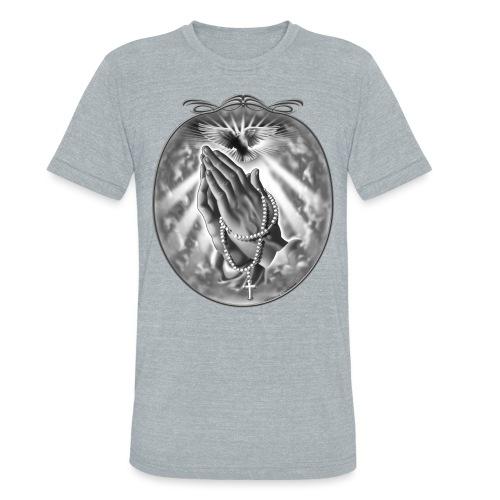 Praying Hands by RollinLow - Unisex Tri-Blend T-Shirt